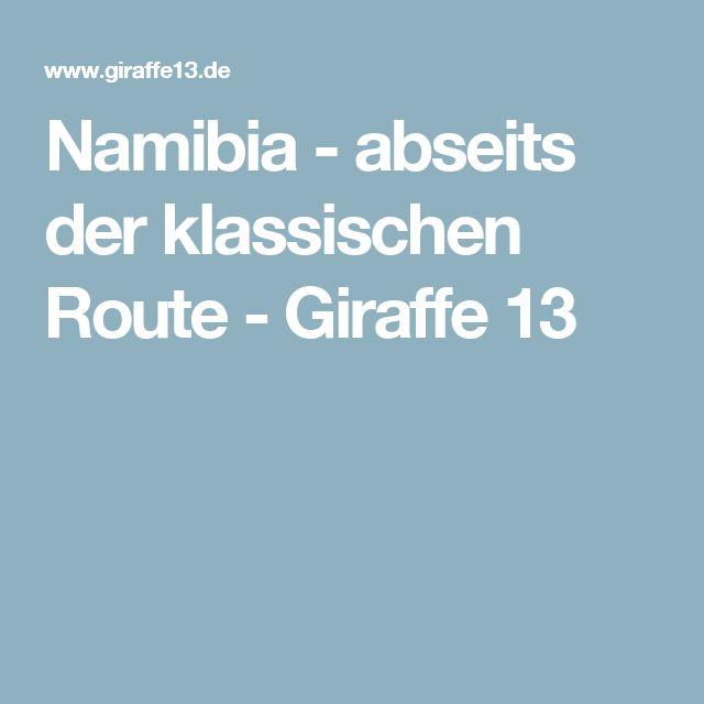 Namibia - abseits der klassischen Route - Giraffe 13