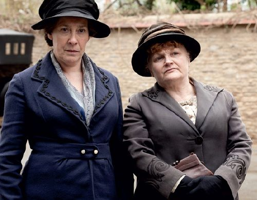 Hughes and Patmore on the way to visit the doctor to find out the results of Mrs. Hughes tests. Gratefully, no cancer.