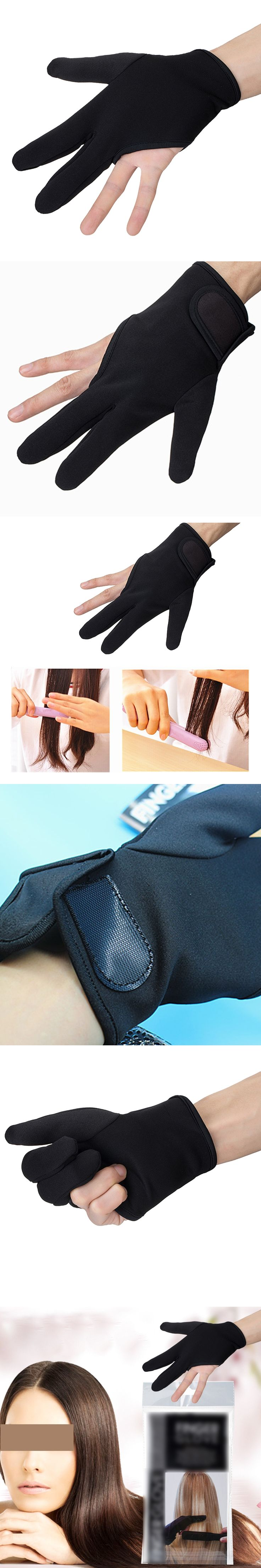 Good 1pc Three Fingers Glove Hairdressing Heat Resistant Hair Straightening Curling Finger Glove Hair Styling Accessories Tools