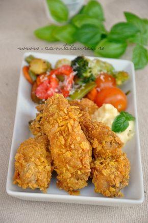 aripioare de pui crocante - KFC style, delicioase