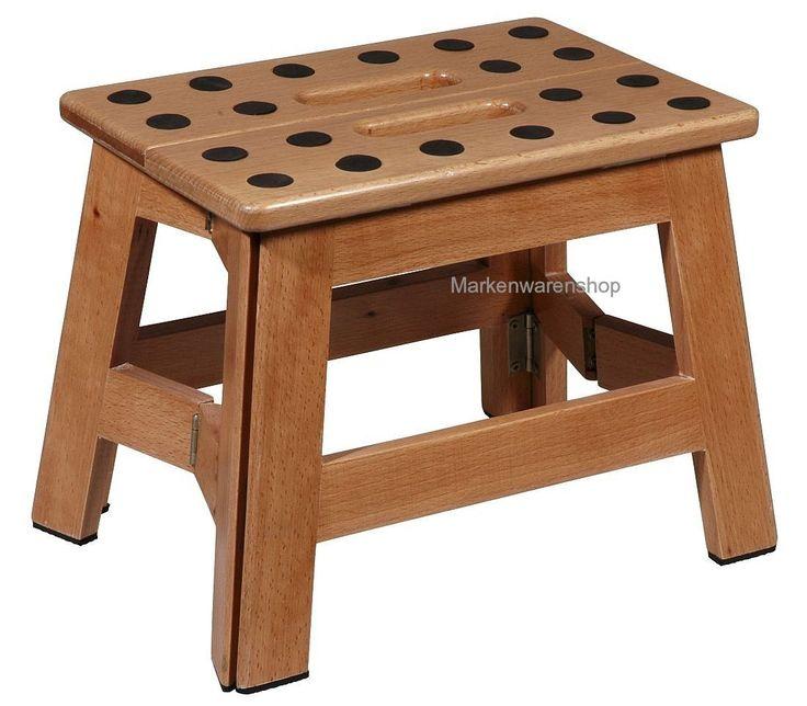 "Cabanaz - Klapptritt Holz H 23cm (1001915) Tritt Hocker Klapphocker ""James Wood"""