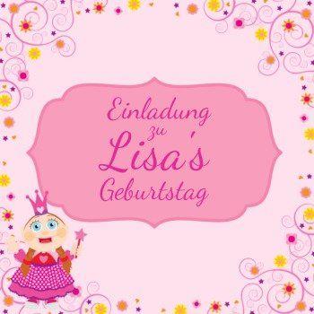 Kleine Prinzessin | Einladungskarte Zum 2. Geburtstag  #einladunggeburtstag.de