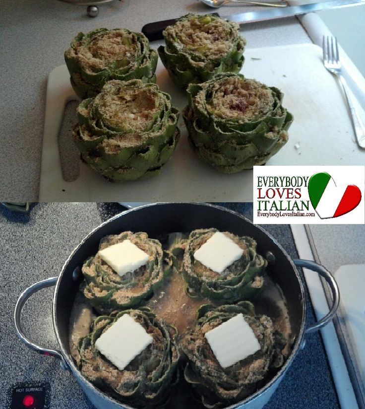 artichoke recipie pic pinning to save but very close to the recipe I've made for years that is my Italian mother-in-laws