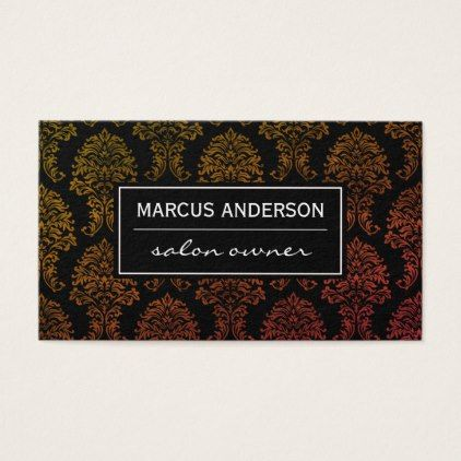 #makeupartist #businesscards - #Classic Damask pattern Business Card