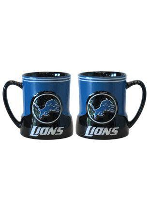 Detroit Lions 18oz Sculpted Gametime Mug