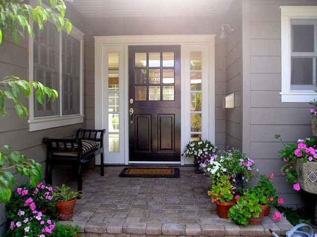 LOVE this Farmhouse Style Front Porch with Pops of Red  Description from  pinterest com14 best Front Door images on Pinterest   The doors  Windows and  . Exterior Doors Farmhouse Style. Home Design Ideas
