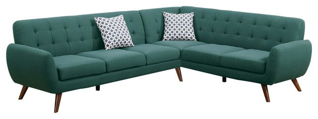 Modern Retro-Style Sectional Sofa, Gray midcentury-sectional-sofas