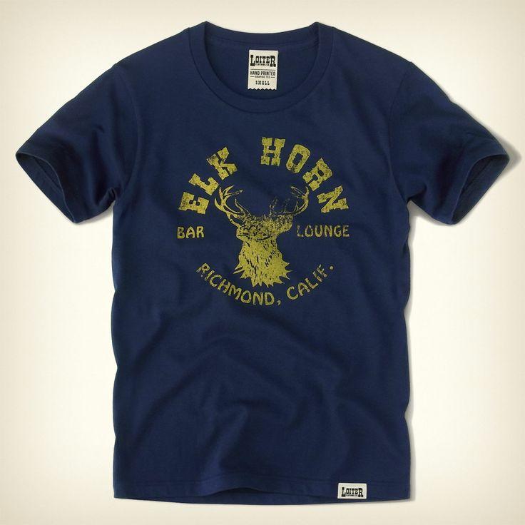 LOITER(ロイター) ELK HORN ヴィンテージTシャツ - デザインTシャツのホリゾンブルー | Horizon Blue