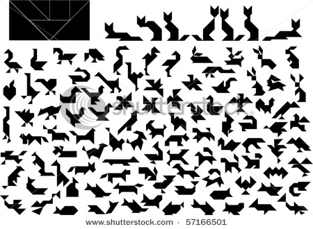 Tangrams: Math, Educatief Speelgoed, Oiseau Tangram, Art And Design, Tangram Clip Arts, Animal