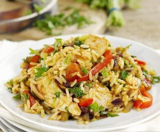 Rezept Gemüse-Reis-Pfanne von steffi31061 - Rezept der Kategorie Hauptgerichte mit Fleisch