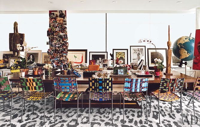 Diane Von Furstenberg's office/living space - wow