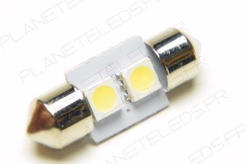 Ampoule Navette C5W 2 Leds SMD5050 31 mm FIRST (en vente par deux): Cette ampoule led 1er prix remplacera simplement votre ampoule…