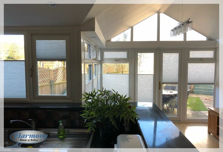 Floating Perfect Fit Cellular Blinds in a Beautiful Conservatory