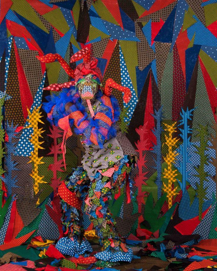 """2016- Siwa Mgoboza """"Les Etres D'Africadia II: Serpentina Jonza"""" Inkjet Photographic Epson on Paper"""