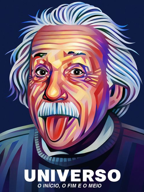 Albert Einstein Portrait Illustration #portraitillustration #illustrationart #digitalart