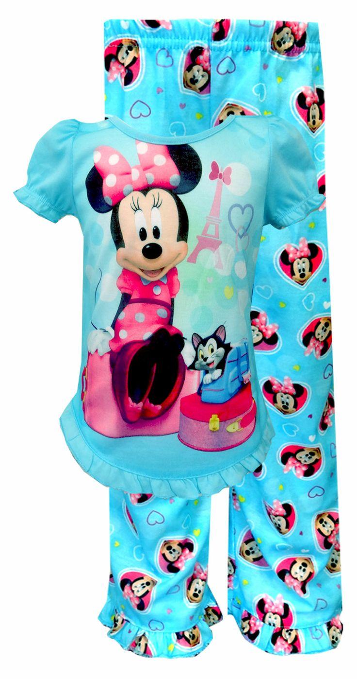 Disney Minnie Mouse Bon Voyage Toddler Pajamas Time For
