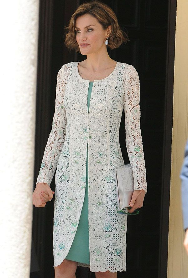 Queen Letizia of Spain at the Asunción de Nuestra Señora Church on May 20, 2015 for the first communion of her eldest daughter Leonor, Princess of Austurias in Madrid, Spain.