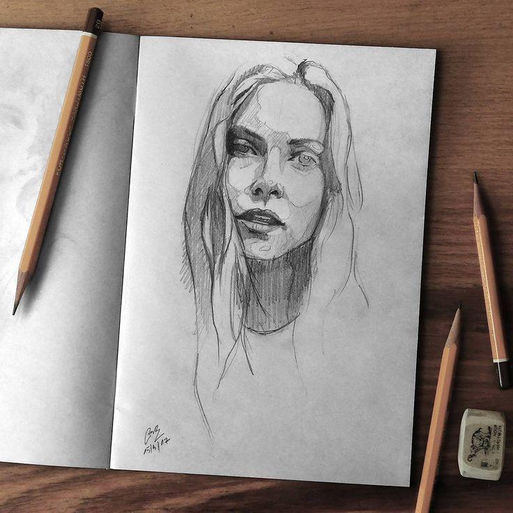 "Páči sa mi to: 7,108, komentáre: 38 – Miroslav Zgabaj (@miro_z_art) na Instagrame: ""Sketchbook  #face #portrait #sketch #sketchbook #paper #pencils #pencil #drawing #pencilsketch…"""