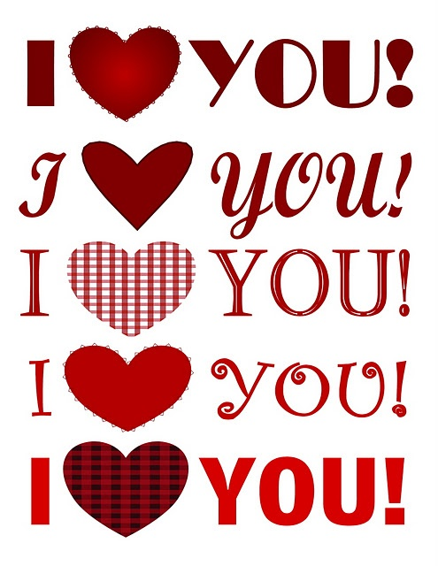 Valentine's Day Printables - Just For You!