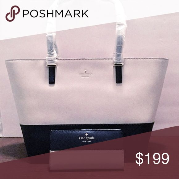 NWT KATE SPADE TOTE NWT beautiful Kate spade ♠️ Tote. Wallet NOT included. Never used. Still have original shipping box. This Tote comes with the traditional brown Kate spade dust cover. kate spade Bags Totes