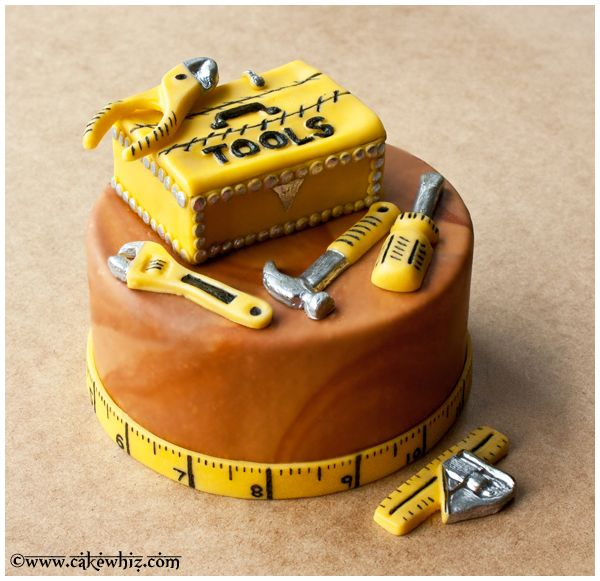 How awesome for the man in your life who does handy work. I love all the neat things you can do with fondant.