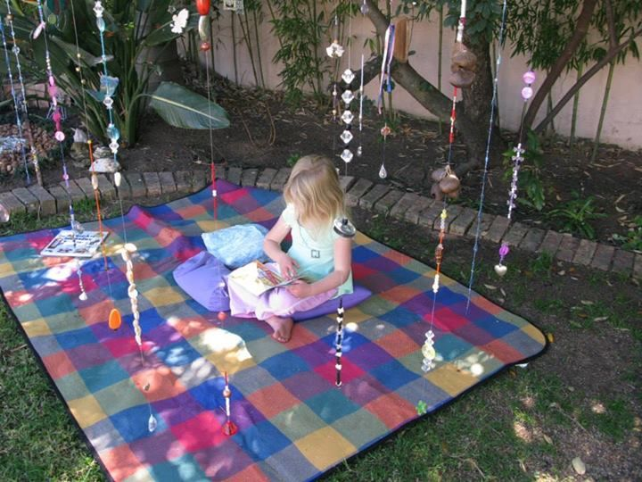 """Pretty Rainbow jingle curtain outdoors from Sounds and Senses ("""",)"""