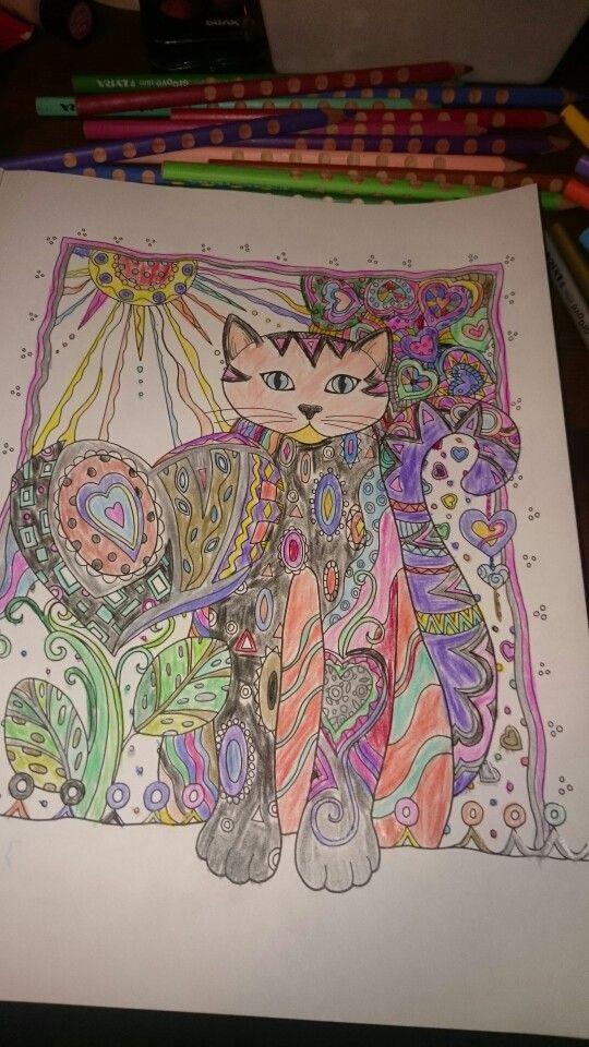 Katt med hjerter