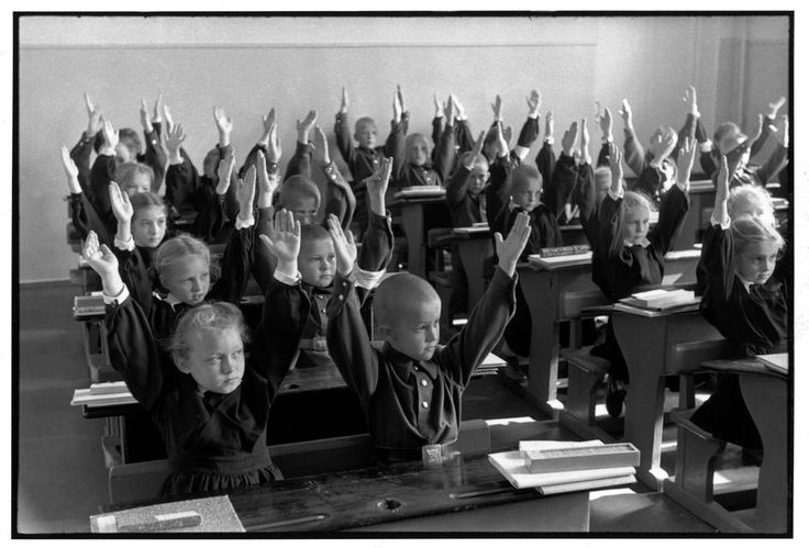 Elementary school, Moscow, 1954 by Henri Cartier-Bresson