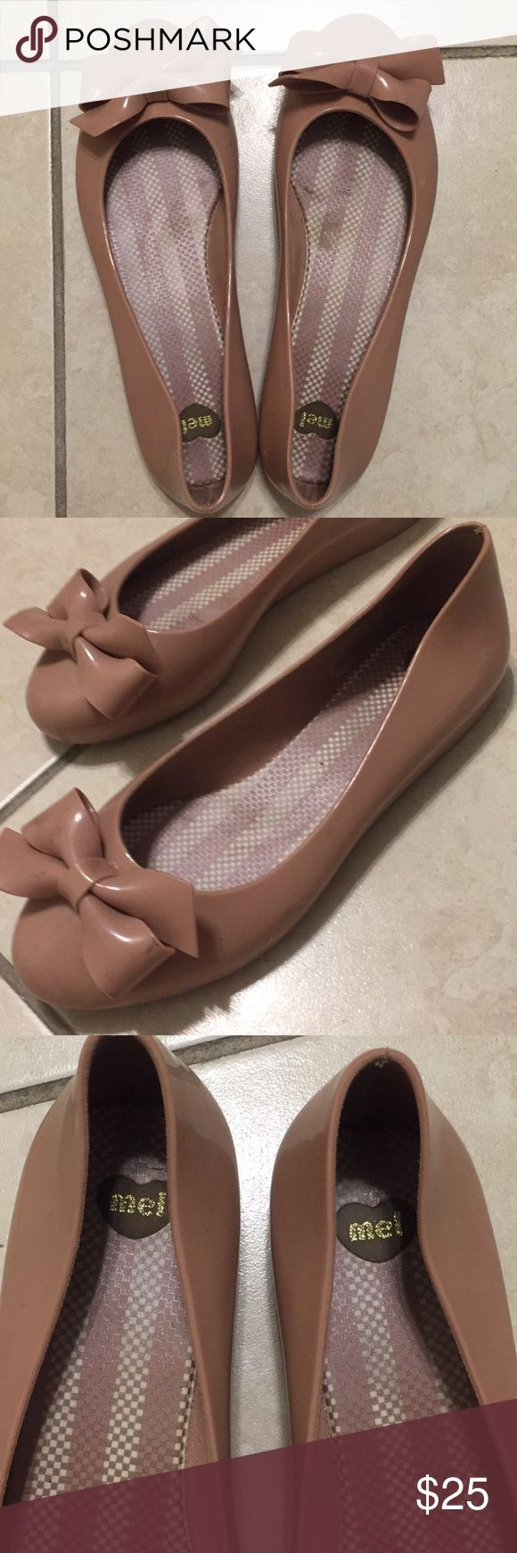 Pink plastic Melissa flats Ballet flats with bow, pink, plastic and super comfortable Mel by Melissa Shoes Flats & Loafers