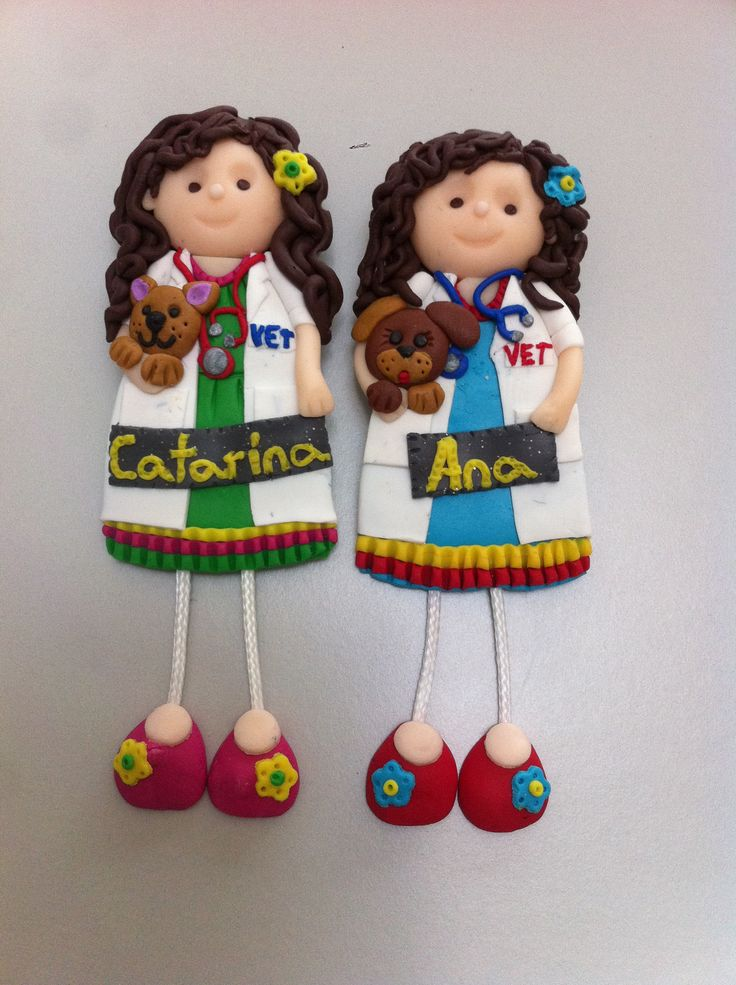 Bonecas do 1069, bonecas veterinárias em fimo