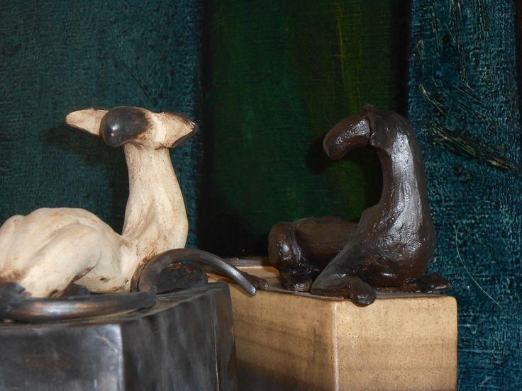 Siamese and Oriental cats - ceramics