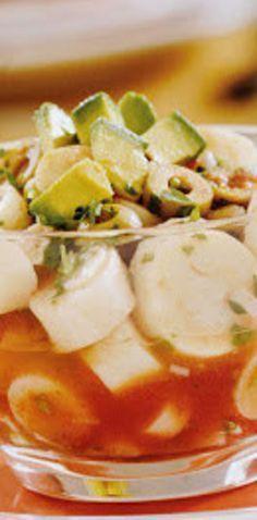Ceviche de palmito.   25 Recetas de divinas ensaladas que vas a querer hacer durante todo el año