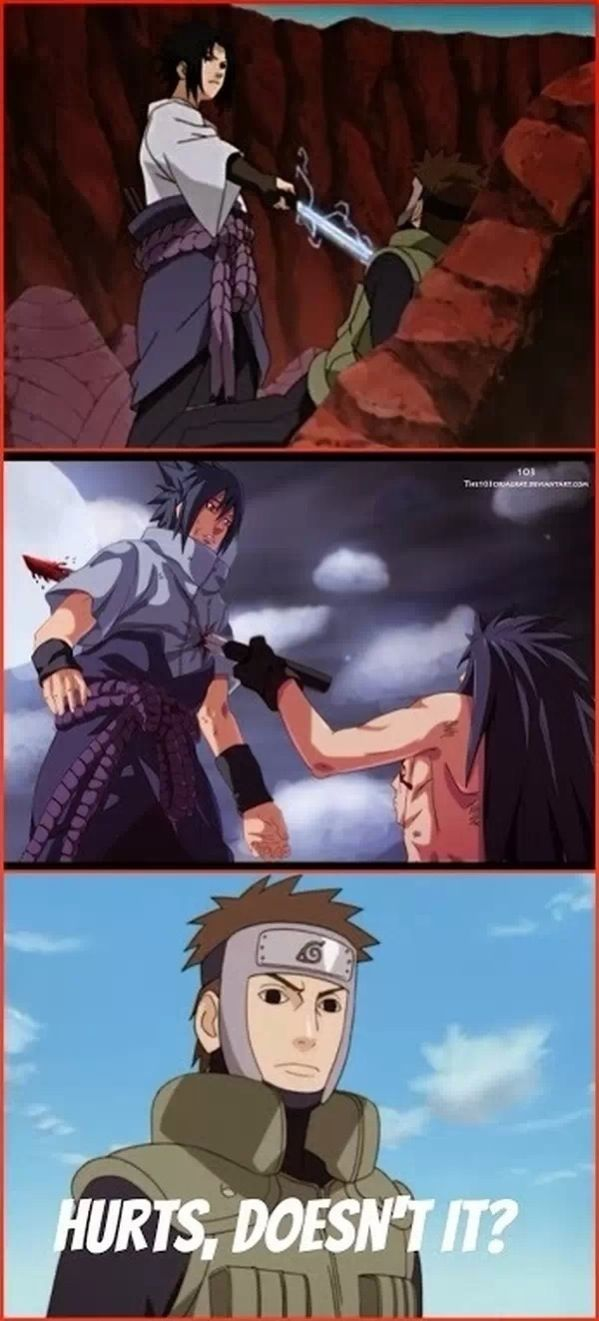 Yamato, Sasuke had his chest caved in at one point, I think he knows what it feels like.  Stop whining.  :P