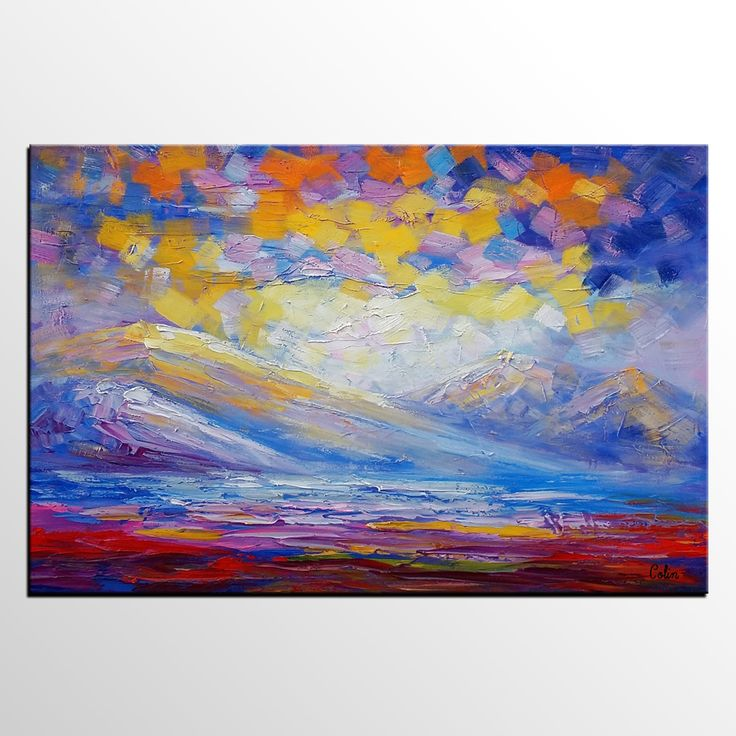 Oil Painting, Abstract Painting, Landscape Painting, Large Art, Canvas Art,  Living Part 49