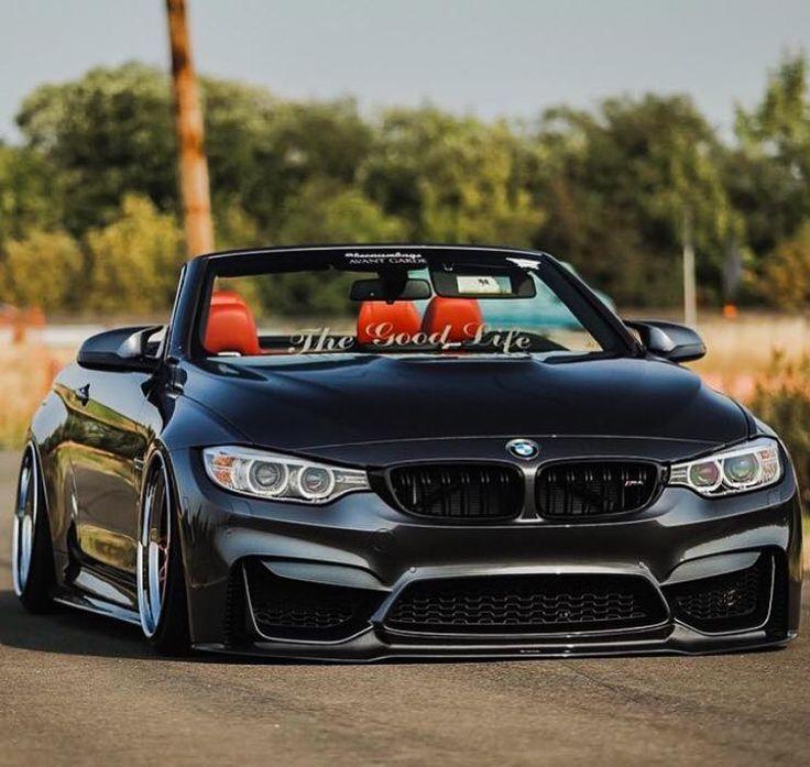 BMW F83 M4 grey cabrio slammed the good life