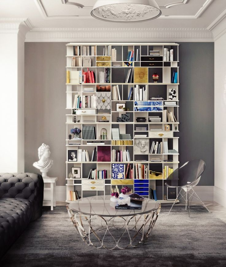 As part of its special service, Boca do Lobo enables customers to personalize their SOHO sideboard into countless variations and features | www.bocadolobo.com #bocadolobo #luxuryfurniture #exclusivedesign #interiodesign #designideas #officedecorideas #bookcase #contemporarydesign