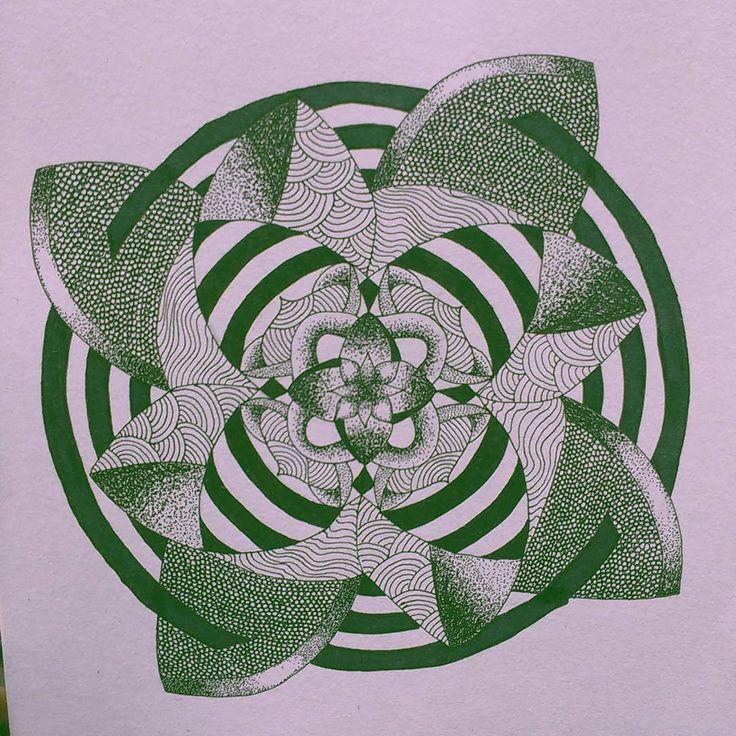 ✏🖊 #artbylawraah #dotwork #dots #dotart #mandala #mandalas #drawing #inktober #inkstagram #inkart_collective #inkart #blackink #pigment #pigmentliner