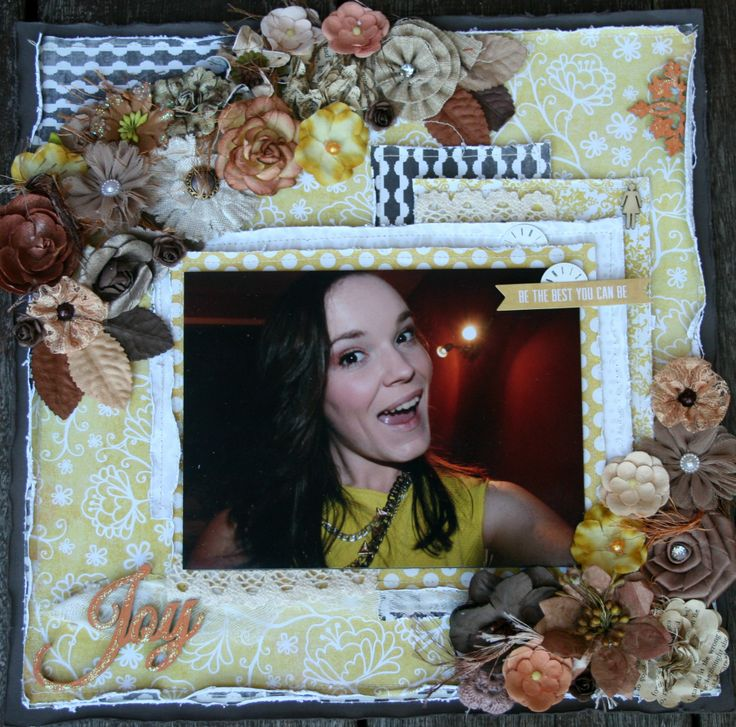 Karen Mc's entry in this month's comp - how gorgeous are those flower clusters reflecting the autumnal tones from the MoodBoard....???