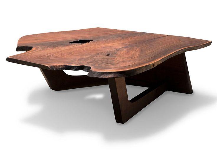 Elegant One Piece Wood Coffee Table