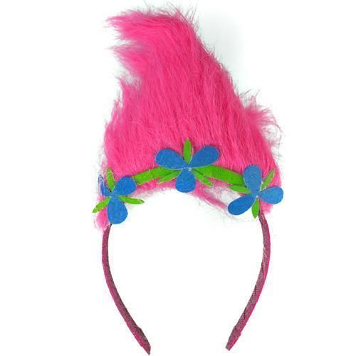 Trolls Sugar Glitter Tiara Headband with Troll hair