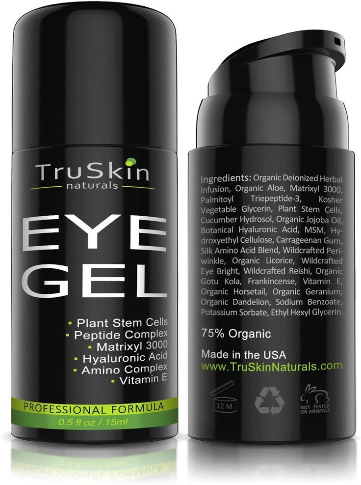 Eye Gel for Wrinkles, Fine Lines, Dark Circles, Puffiness and Bags - 100% Natural, 75% ORGANIC, With Hyaluronic Acid, Jojoba Oil, MSM, Peptides and More - Refreshing Eye Cream Alternative ** Check out this great image  : Skin care