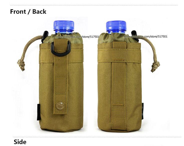Бутылка система MOLLE вода держатель D кольцо шнурок сумка кошелек , атаки Safari Армия Прочный Путешествия Туризм США Оборудование Оптовая,...