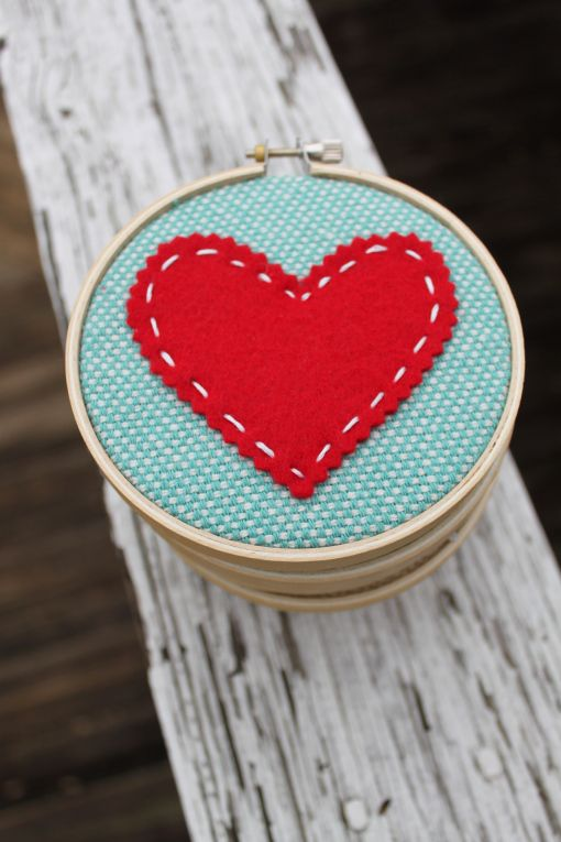 A textured fabric with a small amount of hand sewing and you have a gorgeous gift for someone you love.