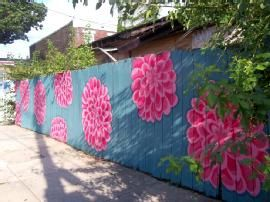 Thompson Street fence mural