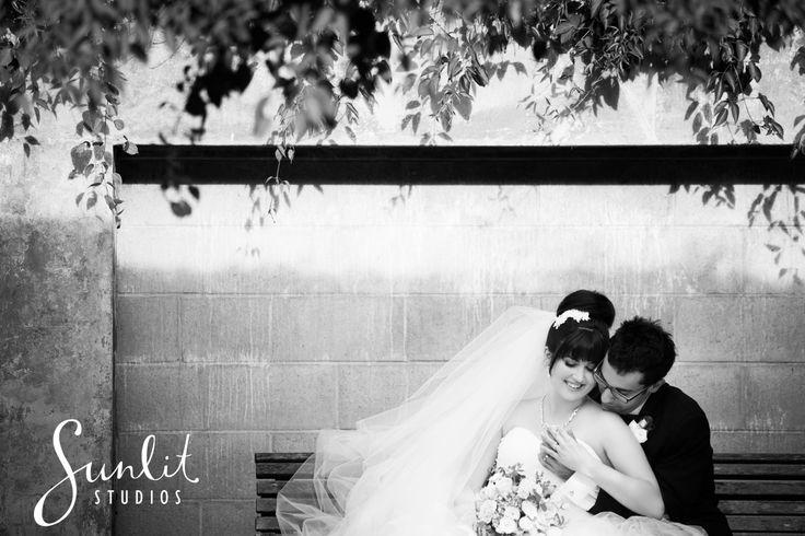 Wedding Photograph at New Farm Park. Photo by Sunlit Studios