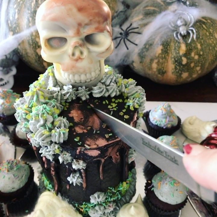 """51 Likes, 2 Comments - The Baked Society (@thebakedsociety) on Instagram: """"Another Mini cake from last Halloween. Death by Chocolate, pretty much chocolate, chocolate and…"""""""