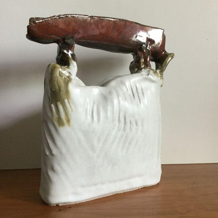 Free form White Matt & iron glaze