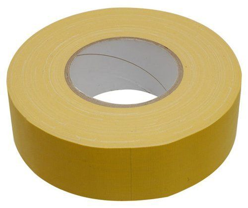 Hosa GFT447 Gaffers Tape 2 Inch Yellow, 60 Yard by Hosa. $22.90. Hosa Gaffer's Tape is a real stage tape not to be confused with Duct Tape!  Gaffer's tape is made with a fine cloth weave that leaves little to no adhesive residue behind once it's removed. Duct Tape, on the other hand, leaves that sticky, gummy, residue. Hosa now offers musicians and stage hands real Gaffer's tape - and best of all, it's black. 60 Yard Length.  This gaffer tape is perfect for a quick fix and wor...