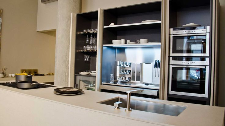 OPERART suggestive design - Show-room Expo 2015  Zampieri cucine Interni in acciaio Cucina attrezzata Cucina di design