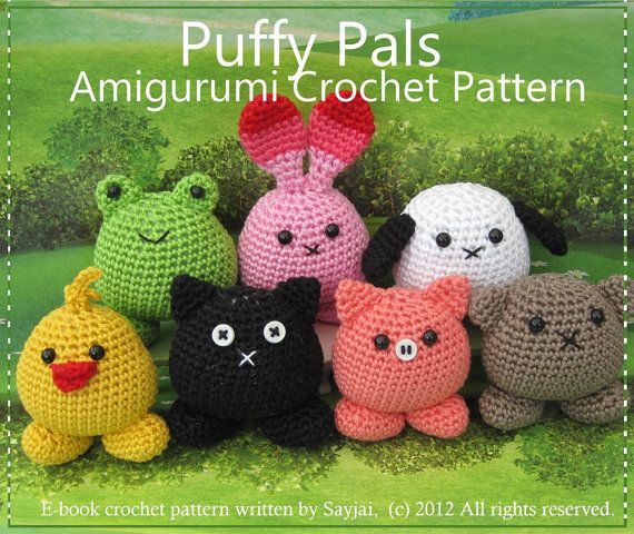 Puffy Pals amigurumi pattern on etsy